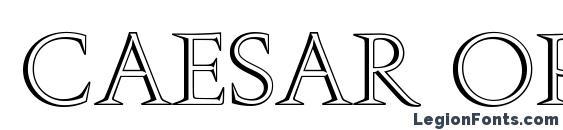 Шрифт Caesar Open