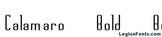 Calamaro Bold Bold Font