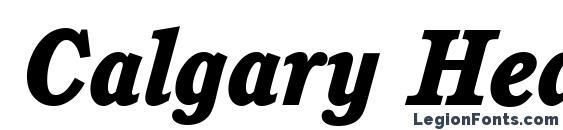 Calgary Heavy Italic Font