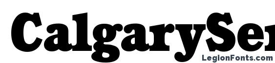 CalgarySerial Heavy Regular Font