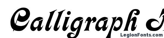 Шрифт Calligraph Medium