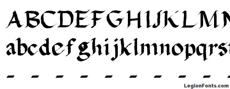 глифы шрифта Calligula, символы шрифта Calligula, символьная карта шрифта Calligula, предварительный просмотр шрифта Calligula, алфавит шрифта Calligula, шрифт Calligula