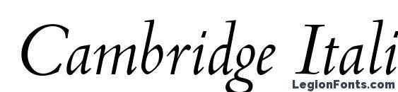 Cambridge Italic Font