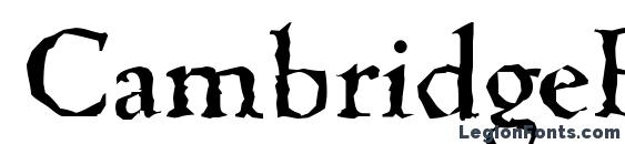 CambridgeRandom Medium Regular Font