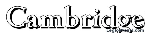 CambridgeShadow Medium Regular Font, 3D Fonts