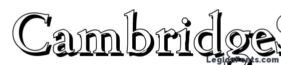 CambridgeShadow Regular Font