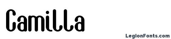 Шрифт Camilla