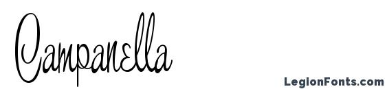 шрифт Campanella, бесплатный шрифт Campanella, предварительный просмотр шрифта Campanella