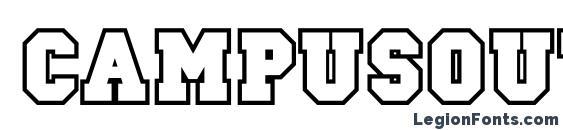 Campusoutlinec Font