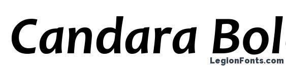 Шрифт Candara Bold Italic