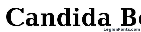 Candida Bold BT Font