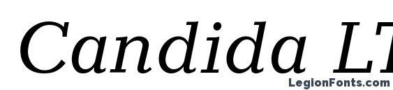 Шрифт Candida LT Italic