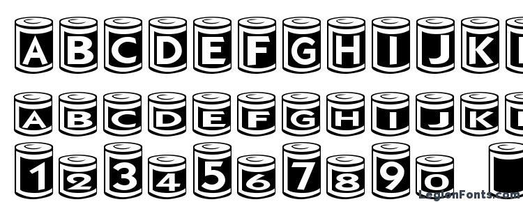 glyphs CanGoods font, сharacters CanGoods font, symbols CanGoods font, character map CanGoods font, preview CanGoods font, abc CanGoods font, CanGoods font