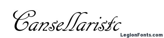 Cansellaristc Font, Russian Fonts