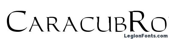 CaracubRomanFon Font, Typography Fonts