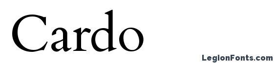 Шрифт Cardo