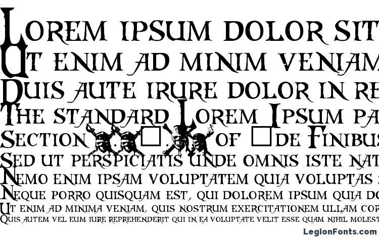 specimens Caribbeans Treasure font, sample Caribbeans Treasure font, an example of writing Caribbeans Treasure font, review Caribbeans Treasure font, preview Caribbeans Treasure font, Caribbeans Treasure font