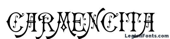 шрифт Carmencita, бесплатный шрифт Carmencita, предварительный просмотр шрифта Carmencita