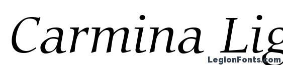 Carmina Light Italic BT Font