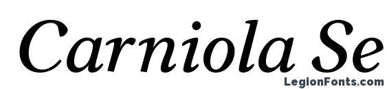 Carniola SemiBold Italic Font