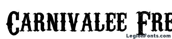 Carnivalee Freakshow Font, Western Fonts