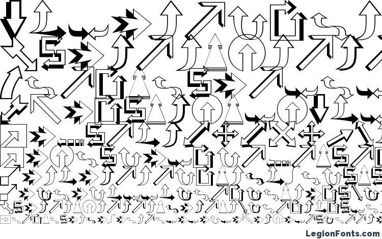 specimens Carr Arrows (outline) font, sample Carr Arrows (outline) font, an example of writing Carr Arrows (outline) font, review Carr Arrows (outline) font, preview Carr Arrows (outline) font, Carr Arrows (outline) font