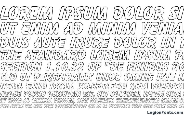 specimens Cartoon Hollow font, sample Cartoon Hollow font, an example of writing Cartoon Hollow font, review Cartoon Hollow font, preview Cartoon Hollow font, Cartoon Hollow font