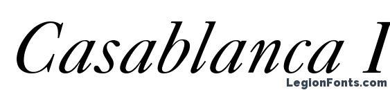 Шрифт Casablanca Italic