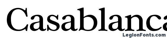 шрифт Casablanca Regular, бесплатный шрифт Casablanca Regular, предварительный просмотр шрифта Casablanca Regular