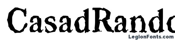 CasadRandom Bold Font