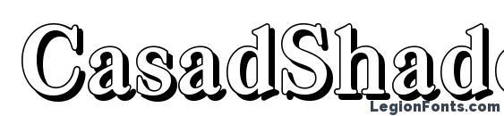 CasadShadow Bold Font