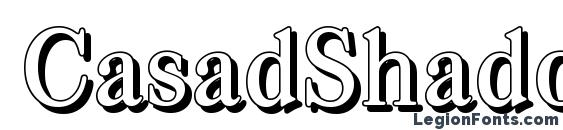 CasadShadow Medium Regular Font