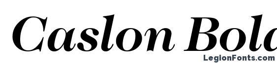 Шрифт Caslon BoldItalic