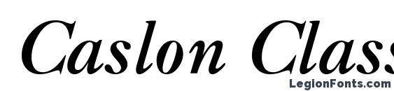 Шрифт Caslon Classico BoldItalic