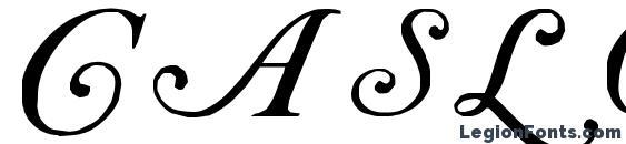 Шрифт Caslon Initials, Шрифты для надписей