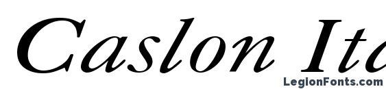 шрифт Caslon Italic.001.001, бесплатный шрифт Caslon Italic.001.001, предварительный просмотр шрифта Caslon Italic.001.001