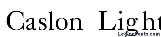 Шрифт Caslon Light