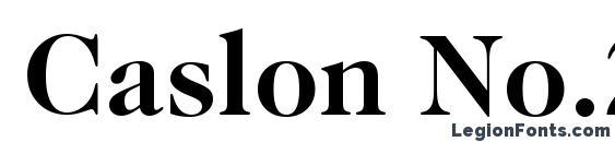 Caslon No.224 Bold BT Font