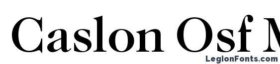 Шрифт Caslon Osf Medium Regular