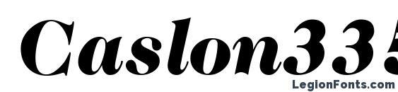 Шрифт Caslon335Black RegularItalic