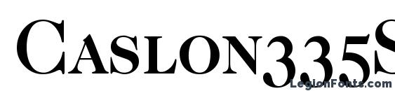 Caslon335Smc Bold Font