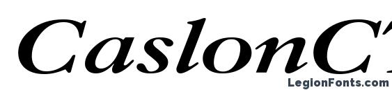 Шрифт CaslonCTT Bold Italic