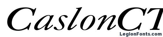 Шрифт CaslonCTT Italic