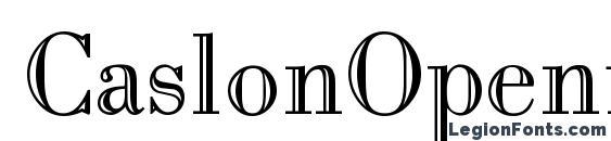 CaslonOpenface Regular Font