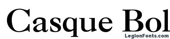 Casque Bold Font