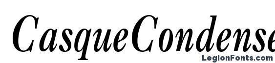 CasqueCondensed Bold Italic Font