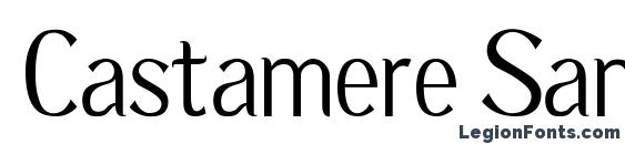 Шрифт Castamere Sans