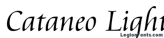 Cataneo Light BT font, free Cataneo Light BT font, preview Cataneo Light BT font
