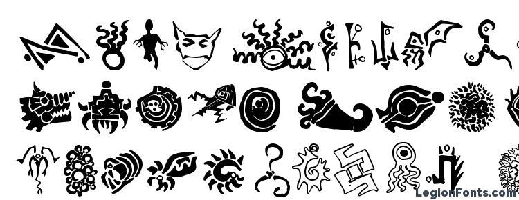 глифы шрифта Cathzulu extraz, символы шрифта Cathzulu extraz, символьная карта шрифта Cathzulu extraz, предварительный просмотр шрифта Cathzulu extraz, алфавит шрифта Cathzulu extraz, шрифт Cathzulu extraz