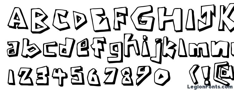 glyphs Caveman regular font, сharacters Caveman regular font, symbols Caveman regular font, character map Caveman regular font, preview Caveman regular font, abc Caveman regular font, Caveman regular font